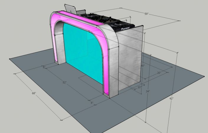 Illuminated DJ Table #205<br>1,234 x 788<br>Published 4 years ago