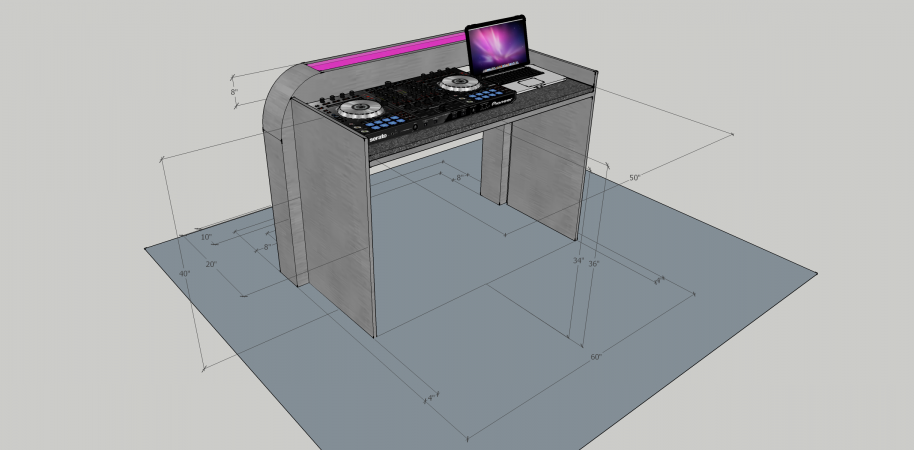 Illuminated DJ Table #208<br>2,436 x 1,200<br>Published 4 years ago